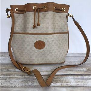 GUCCI - Vintage Bucket Bag Hobo Purse - Tan